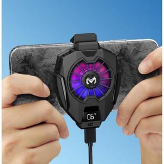 Quạt tản nhiệt điện thoại MEMO DL05 - Siêu lạnh, hiển thị nhiệt độ, LED RGB, Kẹp thu vào 2 chiều thumbnail