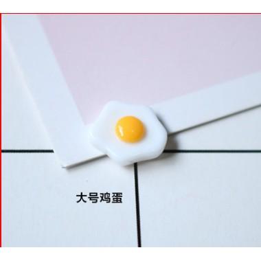 Mô hình Trứng chiên phụ kiện trang trí charm slime