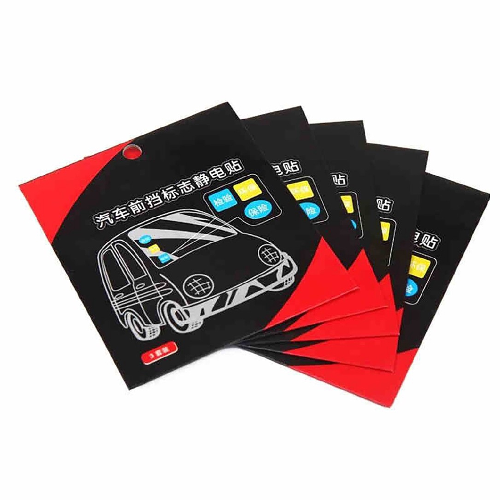 Annual Post Car Sticker AUTO Window Signal Clear Cling Static Film