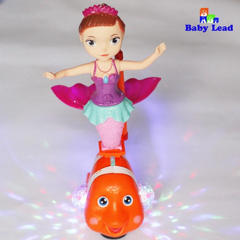 Lồng đèn nàng tiêng cá cùng cá chép vàng có đèn 7 màu cực đẹp và nhạc Babylead có cảm...