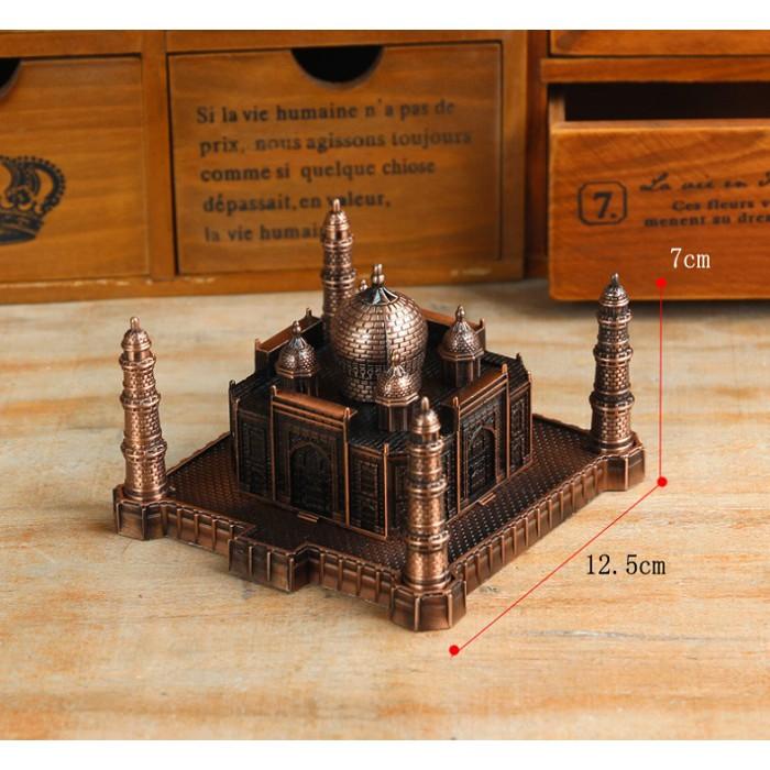 Mô hình đền Taj Mahal cỡ đại bằng kim loại, trang trí & quà tặng độc đáo