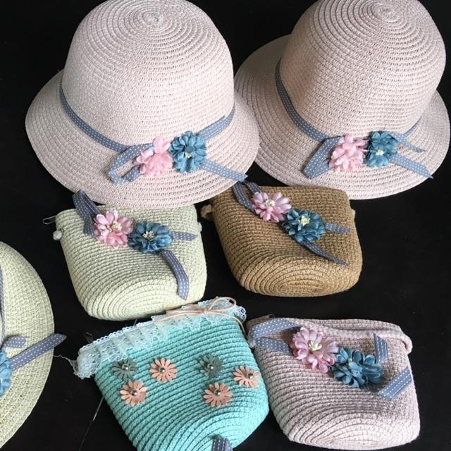 Sét mũ và túi siêu xinh cho bé