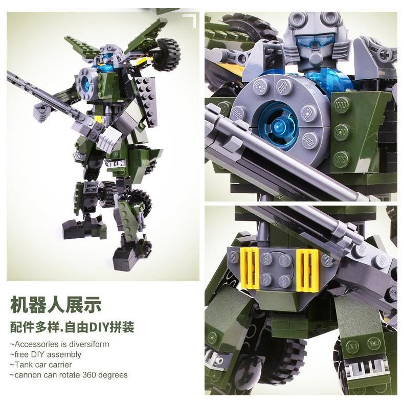Bộ xếp hình Gudi 8722 Robot biến hình Rock Warrior - 311 chi tiết