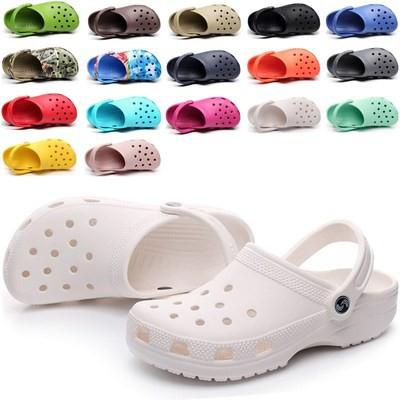 Giày lỗ đế mềm- Dép lỗ thoáng khí màu hè- dép đi trong nhà- Sandal đế bằng- dép chống trượt- dép đi trong bệnh viện