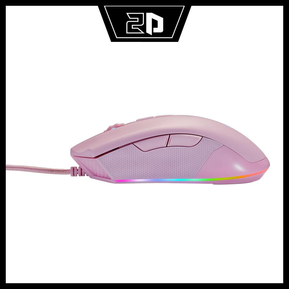 CHUỘT GAMING BJX M9 PINK RGB Led (Cảm biến cao cấp PMW3325, DPI 5000 7 Level, Switch KAILH bất tử 60 triệu lần nhấn)