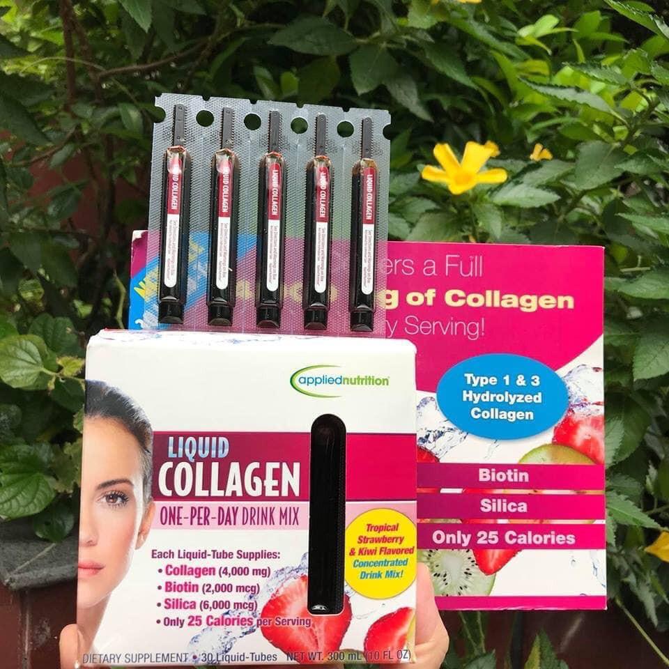 Phục hồi da Liquid Collagen 30 ống hàng Mỹ xách tay giảm chỉ còn 600,000 đ