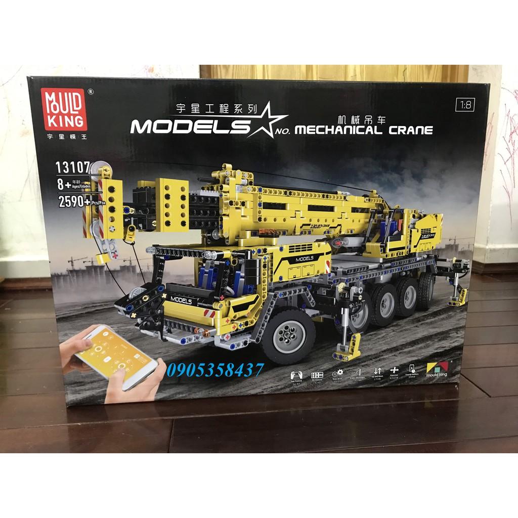 Bộ lắp ghép tương thích với Lego technic xe cần cẩu 13107 Mould King – điều khiển xe chạy từ xa