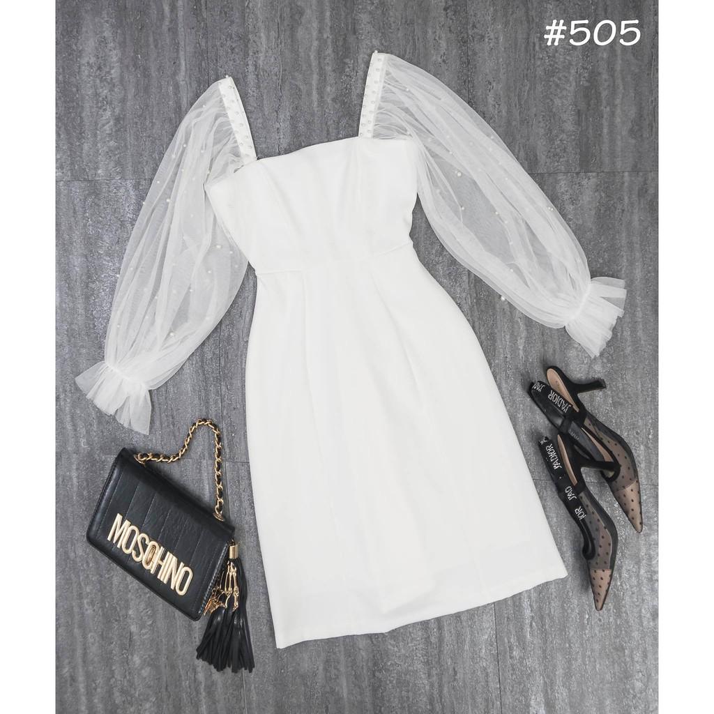 Mặc gì đẹp: Sang chảnh với Đầm dự tiệc trắng tay phồng kết hạt siêu xinh