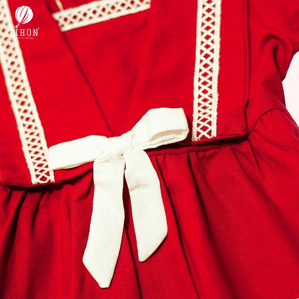 Váy Trẻ Em TIHON Gắn Nơ Đáng Yêu VĐ03-1156