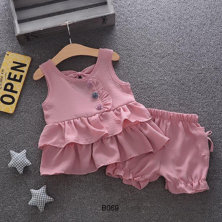 Set đồ bé gái 2-5 tuổi hàng Quảng Châu B069