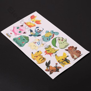 Car Sticker Pet Pokemon Series Toy Car Window Wall Decal Paster No Fading
