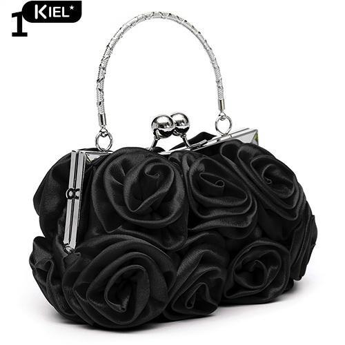 Túi xách cầm tay hoa hồng sáng tạo thời trang dự tiệc cho