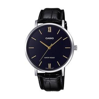 [Mã FARSBR153 giảm 15% đơn 150K] Đồng hồ nam dây da Casio MTP-VT01L-1B chính hãng