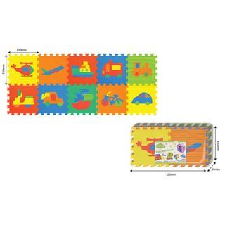 Đồ chơi trẻ em thảm xốp ghép hình phương tiện giao thông 10 miếng PAMAMA P0304