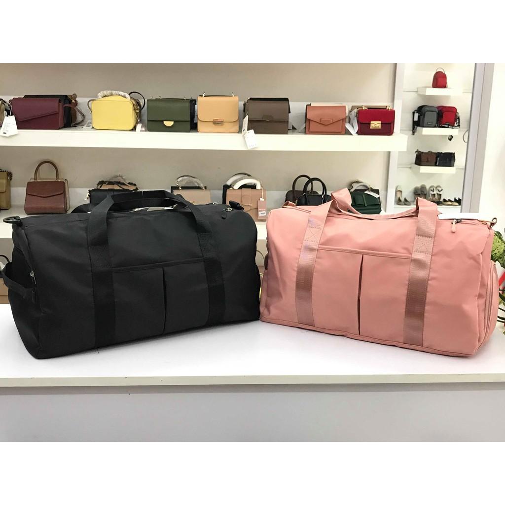 Túi du lịch nữ thời trang chống thấm kèm dây đeo, có ngăn giày ...