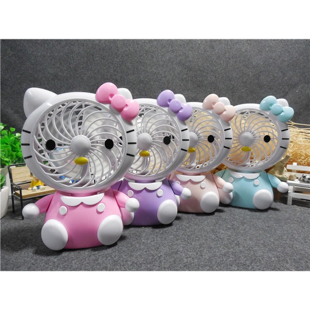 [SALE 10%] Quạt 3 cánh để bàn mini Hello Kitty SQ1881