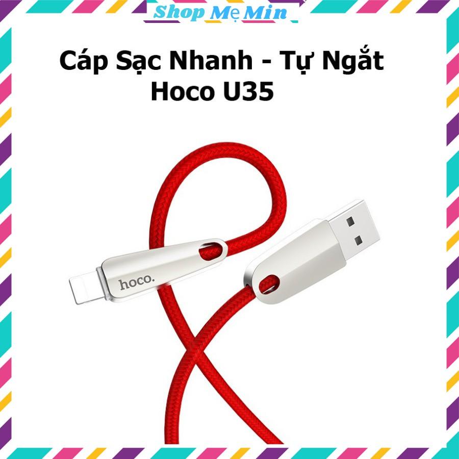 Dây sạc tự ngắt Hoco u35, có sạc nhanh, có đèn báo khi sạc,chất liệu vải dù  1m2 chính hãng
