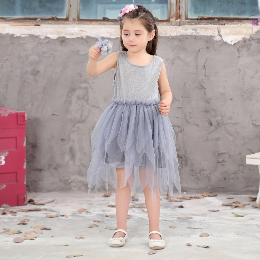Đầm không tay công chúa thời trang cho bé gái dự tiệc