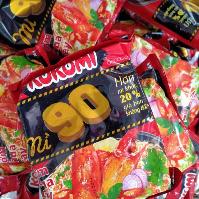 Mì kokomi 90 vị tôm chưa cay.1 thùng 30goi .90g/1 gói  hơn mì khác 20% giá bán không