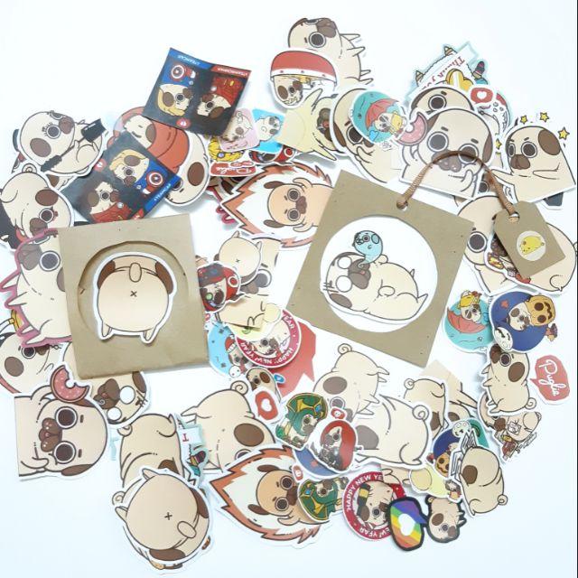 Sticker nhám puglie dán trang trí planer, scrapbook, điện thoại, laptop,….size nhỏ 3-5cm