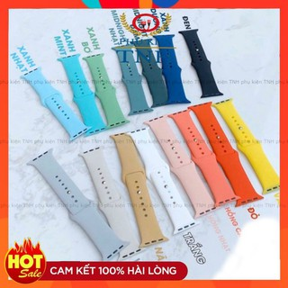 10 màuDÂY ĐỒNG HỒ CAO SU APPLE WATCH SPORT BANDS CAO CẤP FULL SIZE 1 2 3 4 5 38mm 40mm 42mm 44mm