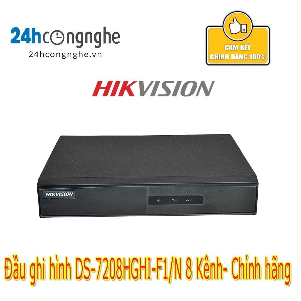 Đầu ghi hình HD-TVI 8 kênh TURBO 3.0 HIKVISION DS-7208HGHI-F1/N- Chính hãng