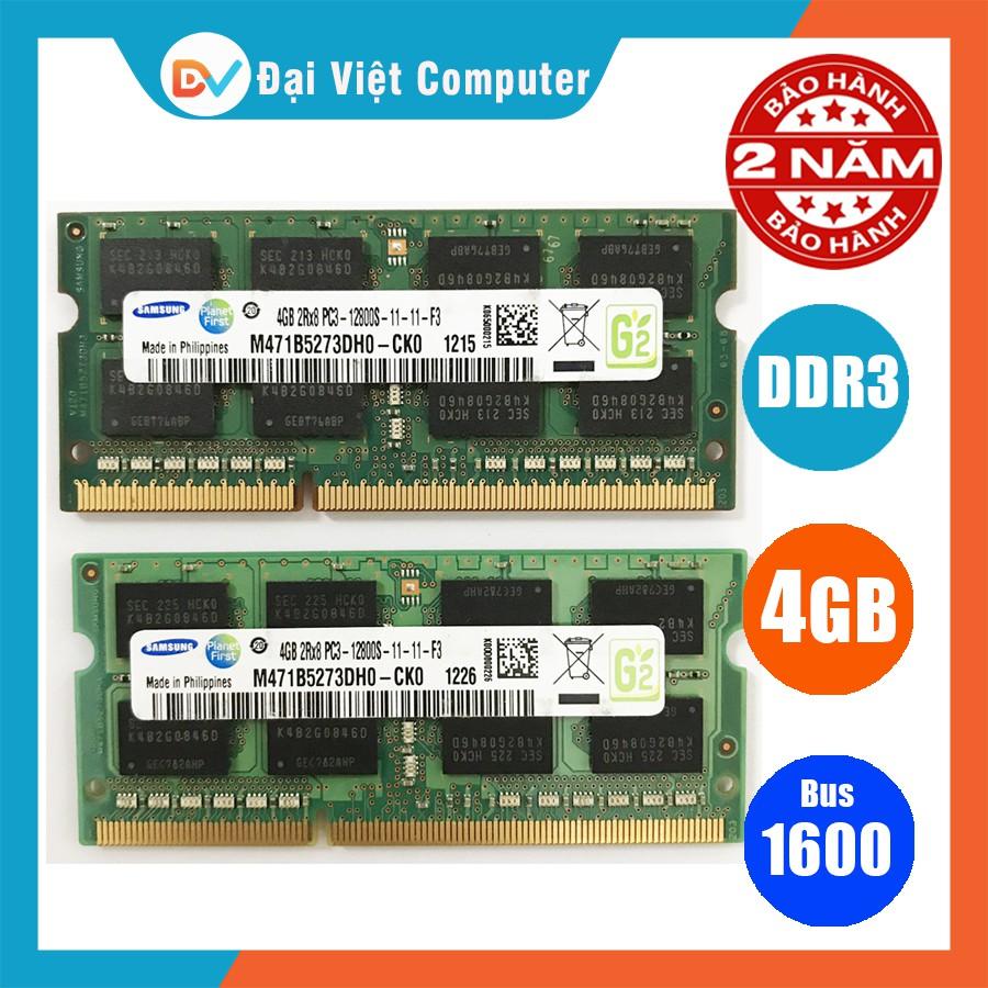 Ram laptop 8GB 4GB DDR3 bus 1600 (nhiều hãng) hynix/ samsung/ micron/ crucial/ eldipa.......PC3 12800s