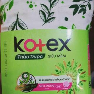 Băng vệ sinh Kotex thảo dược gói 4 miếng dùng thử