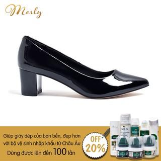 Giày gót thấp công sở bít mũi Merly 1069