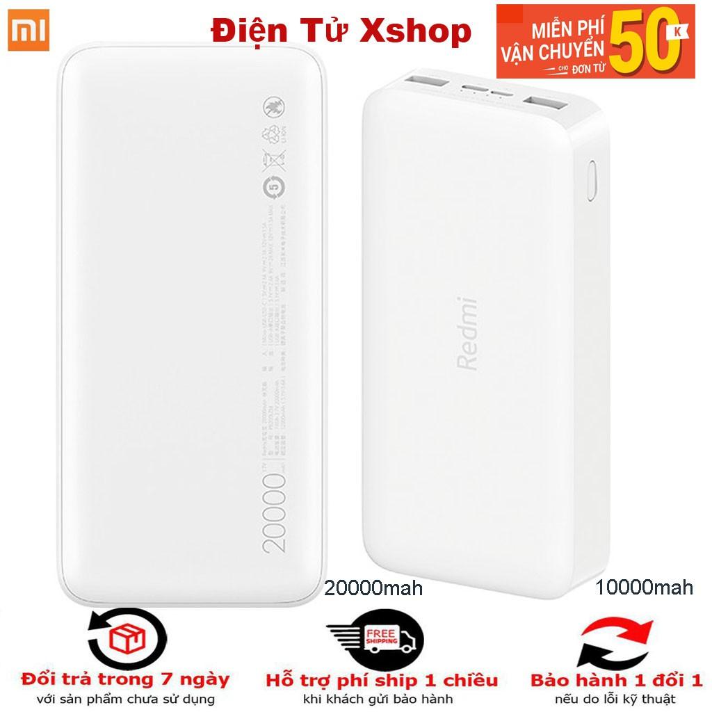[CHÍNH HÃNG] Sạc dự phòng Xiaomi Redmi 10000mAh/20000mAh PB100LZM- power bank BẢO HÀNH 6 THÁNG 1 ĐỔI 1