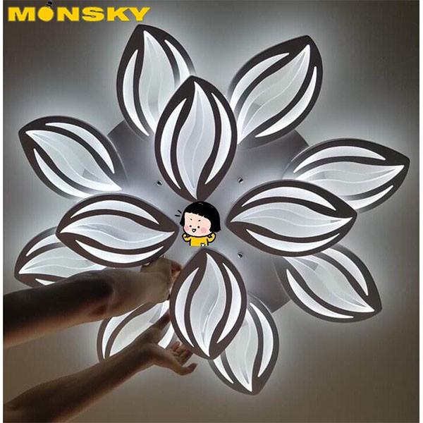 Đèn trần LED mâm MONSKY 3 màu ánh sáng ORIL 12 cánh có điểu khiển từ xa tiện dụng dùng cho trang trí tuyệt đẹp