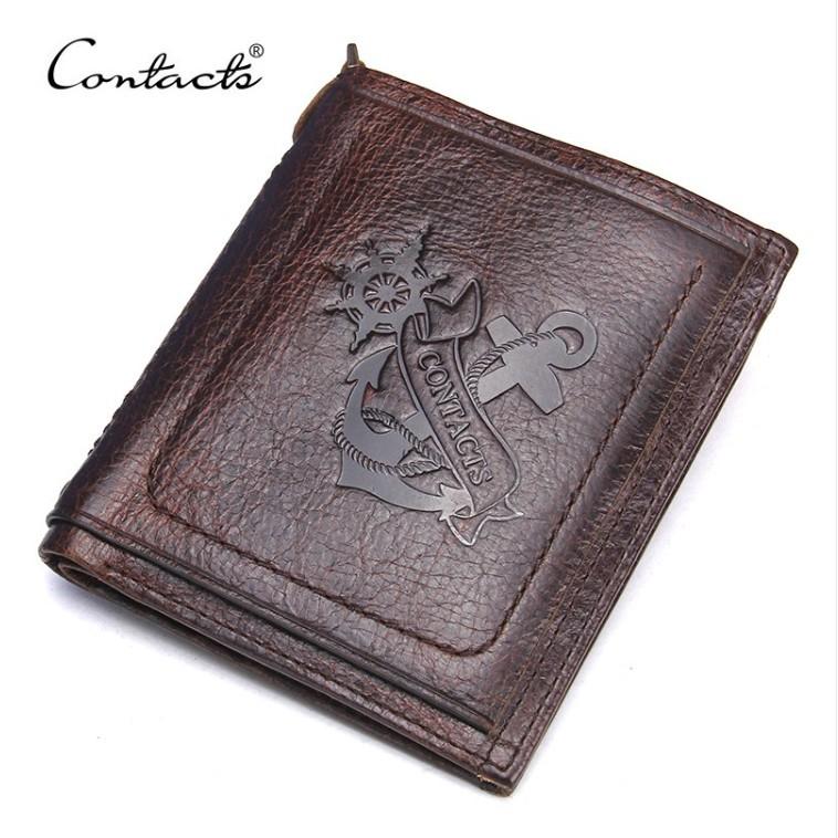 2020 Contacts Wallet Bóp Ví Đứng Da Bò Thật 100% Cao Cấp AM1222 - Shop Túi Nam Nữ I