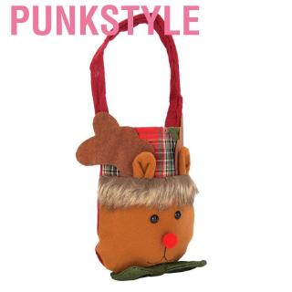Punkstyle Portable Lovely Christmas Elk Pattern Gift Bag Ornament Xmas Party Home Decoration