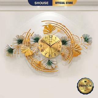 Đồng Hồ Trang Trí Kim Trôi Treo Tường Decor Shouse DC168 quartz phù hợp cho nội thất phòng khách cỡ lớn hiện đại