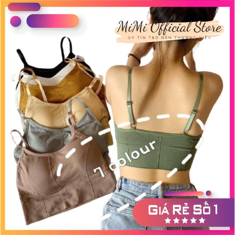 Áo bra thể thao nữ 2 dây tập gym tập yoga áo bra thun trơn cotton thấm hút mồ hôi