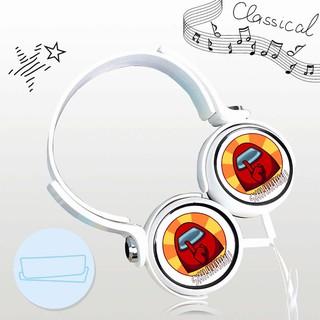 Tai nghe AMONG US thiết kế thông minh cá tính cắm dây có mic anime chibi