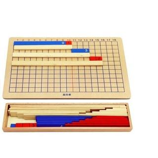 Bảng phép tính cộng trừ, Subtraction and Addition Strip Board – Giáo cụ montessori (bản gia đình)