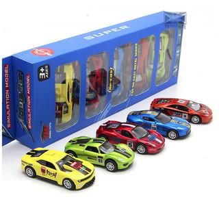 Bộ 5 xe ô tô die cast mô hình bằng sắt chạy cót tỉ lệ 1:64