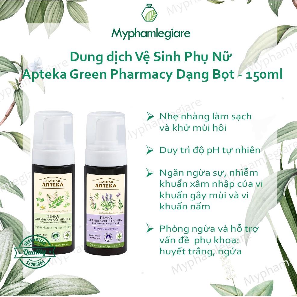 Dung Dịch Vệ Sinh Phụ Nữ Nga (tạo bọt) Apteka Green Pharmacy