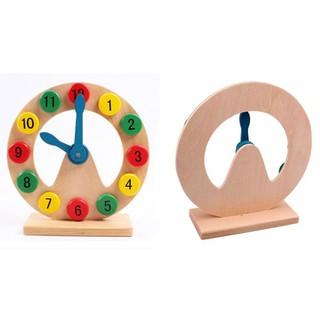 [ HOT DEAL ] Đồ chơi đồng hồ gỗ để bàn khuyết giữa – Đồ chơi giáo dục cho bé
