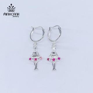Bông Tai Búp Bê Công Chúa Bằng Bạc Cho Bé Gái - Minh Canh Jewelry