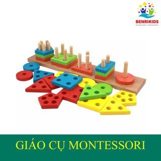 Bảng Phân Loại Hình Khối Và Màu Sắc Bằng Gỗ Theo Phương Pháp Montessori
