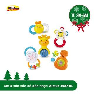 Set 5 xúc xắc có đèn nhạc Winfun 3087