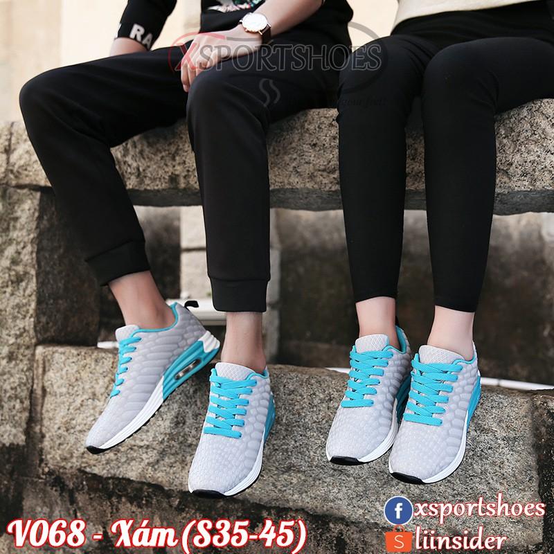 Giày đôi thể thao nam nữ cao cấp V068 - Giày đôi đệm khí vải thoáng khí đen - xanh lam - xám - xanh - 2464608 , 1269702426 , 322_1269702426 , 600000 , Giay-doi-the-thao-nam-nu-cao-cap-V068-Giay-doi-dem-khi-vai-thoang-khi-den-xanh-lam-xam-xanh-322_1269702426 , shopee.vn , Giày đôi thể thao nam nữ cao cấp V068 - Giày đôi đệm khí vải thoáng khí đen - xa