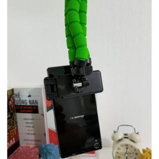 Gậy chụp hình/ Gậy selfie/Giá kẹp điện thoại/Tripod Giữ Điện Thoại – Gecko Tripod – XANH LÁ