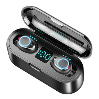 F9 TWS Breathing Light Smart Touch 8D Stereo Wireless Bluetooth Earphone 5.0 LED