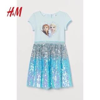 Váy elsa công chúa H&M đính kim sa