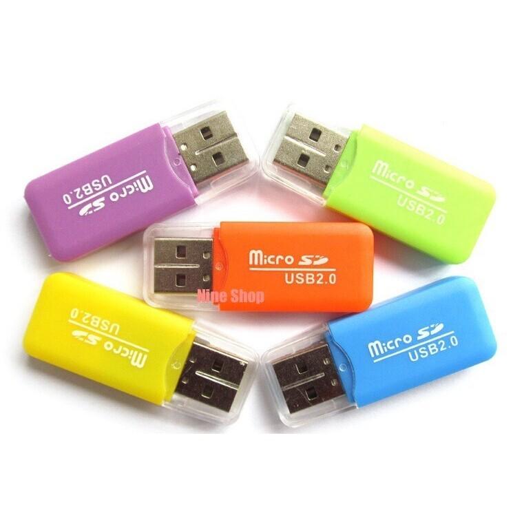 Đầu Đọc Thẻ Nhớ Micro SD Mini Vỏ Nhựa