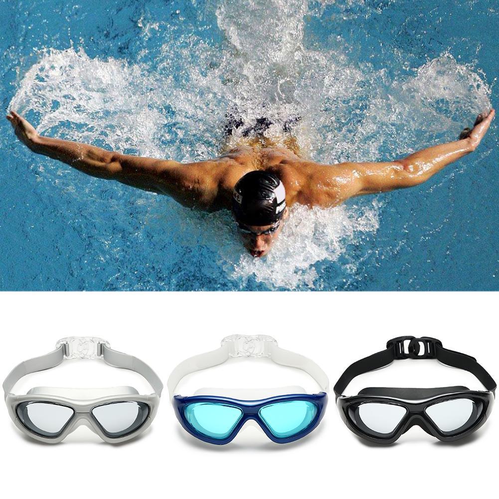 f60a45286cc Adjustable Men Women Silicone HD Waterproof Big Frame Anti Fog No Leaking  UV Protection Swim Goggles - Adjustable Men Women Silicone HD Waterproof  Big Frame ...