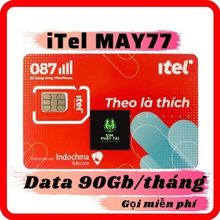 SIM 4G ITEL-VINAPHONE ❤ FREESHIP ❤Sim 4G iTel-Vinaphone Gói MAY 3Gb/Ngày (90G/Tháng) Gọi Miễn Phí Free SmS